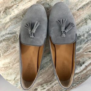 J Crew Cora Loafer size 10 gray suede
